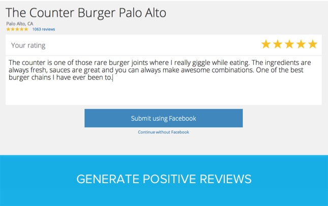Generate positive reviews